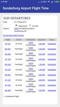 Sonderborg Airport Flight time screenshot 1