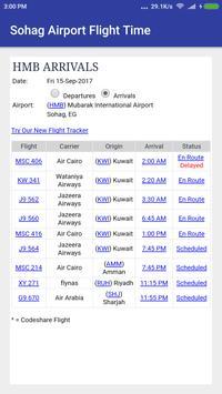 Sohag Airport Flight Time poster