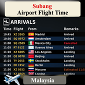 Subang Airport Flight Time icon