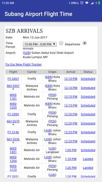 Subang Airport Flight Time poster