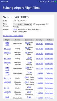Subang Airport Flight Time screenshot 1