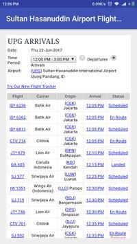 Sultan Hasanuddin Airport Flight Time poster