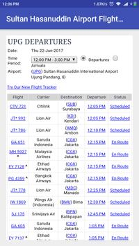 Sultan Hasanuddin Airport Flight Time screenshot 1