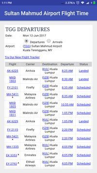 Sultan Mahmud Airport Flight Time screenshot 1