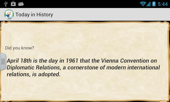 Today in History apk screenshot