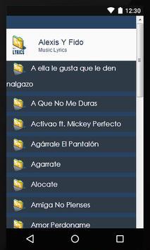 Lyics Alexis Y Fido screenshot 1