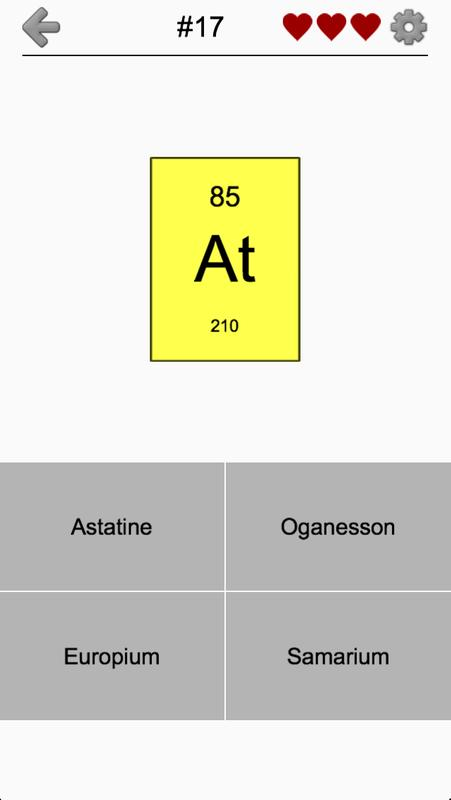 Chemical elements and periodic table symbols quiz apk download chemical elements and periodic table symbols quiz apk screenshot urtaz