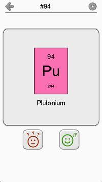 Chemical Elements and Periodic Table: Symbols Quiz apk screenshot