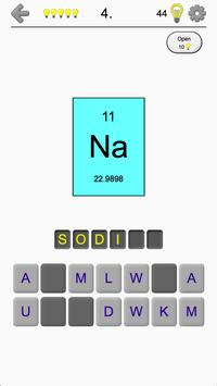 Chemical Elements and Periodic Table: Symbols Quiz poster