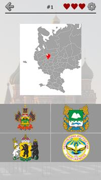 Russian Regions: Maps, Capitals & Flags of Russia poster