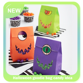 Halloween goodie bag candy idea icon