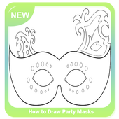 How to Draw Party Masks icon