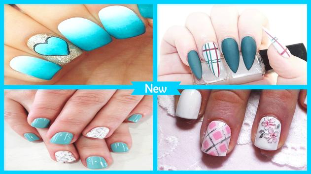 Simple Teal Plaid Nail Design For Android Apk Download