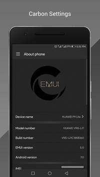 Carbon OS Theme for Huawei apk screenshot