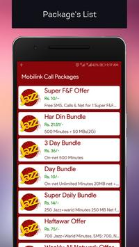 All Mobilink Packages 2018 screenshot 1