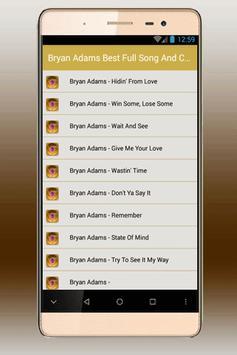 Bryan Adams Best Song - heaven apk screenshot