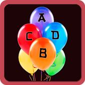 ABCD Balloon game/Learn ABCD icon