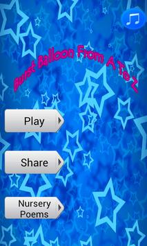 ABCD Balloon game/Learn ABCD poster