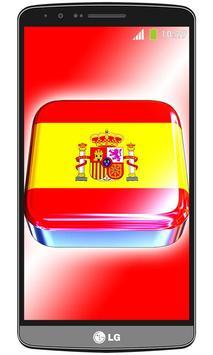 Spain flag live wallpaper poster