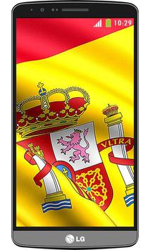 Spain flag live wallpaper screenshot 4