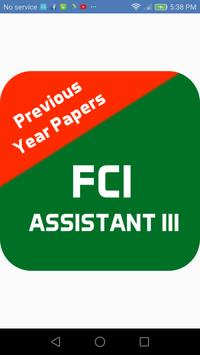 FCI Assistant Previous Papers poster