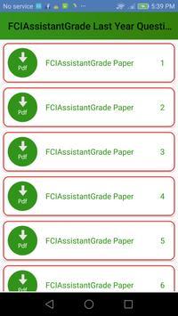 FCI Assistant Previous Papers apk screenshot