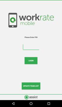 Workrate Mobile screenshot 1