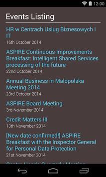 Aspire Events apk screenshot