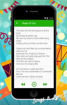 Ed Sheeran Songs 2017 apk screenshot