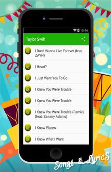 ZAYN & Taylor Swift  Songs apk screenshot