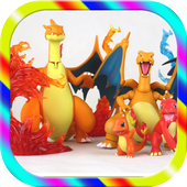 Toys Kids charmander evolution icon