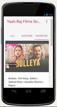 Yash Raj Films Song apk screenshot