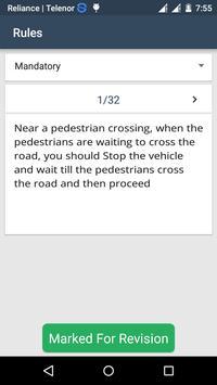 RTO Driving Licence Test apk screenshot