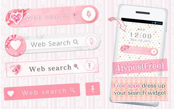 Kawai Widget pink heart poster