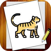 Learn How to draw animals icon