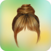 Woman hairstyle photoeditor icon
