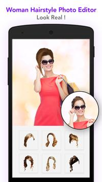 Woman hairstyle photoeditor poster