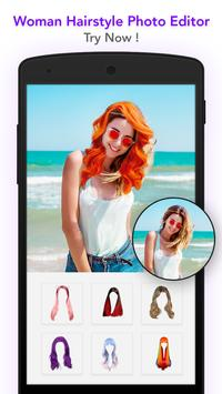 Woman hairstyle photoeditor apk screenshot