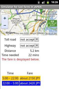 Taxi fares in JAPAN screenshot 2