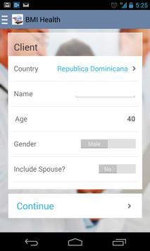 BMI Cotizador Salud Rep. Dom. screenshot 2