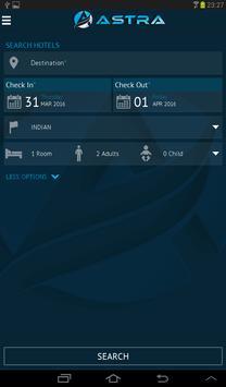 Astra Bookings apk screenshot