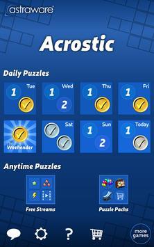 Astraware Acrostic apk screenshot