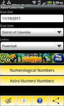Astro*Lotto Free screenshot 1