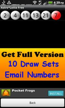 Astro*Lotto Free screenshot 2