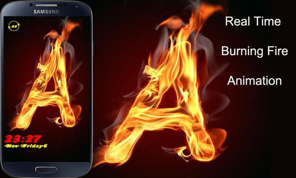 Burning Letter A Lock screenshot 1