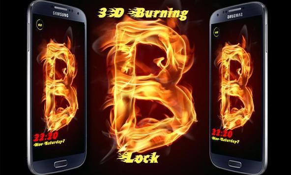 Burning Letter B Lock poster