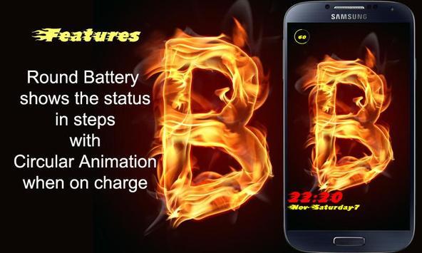 Burning Letter B Lock apk screenshot