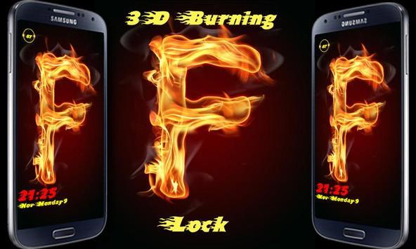 Burning Letter F Lock poster