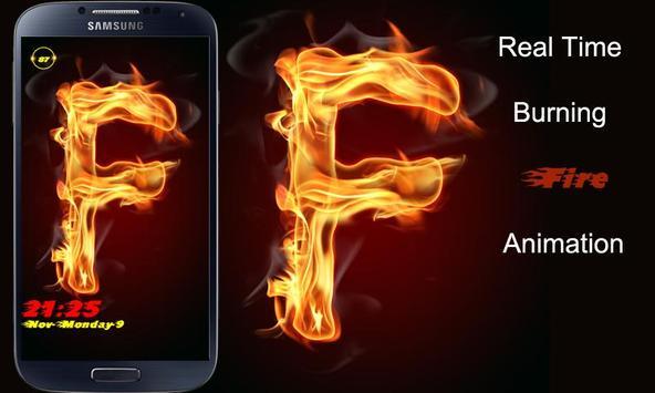 Burning Letter F Lock screenshot 1