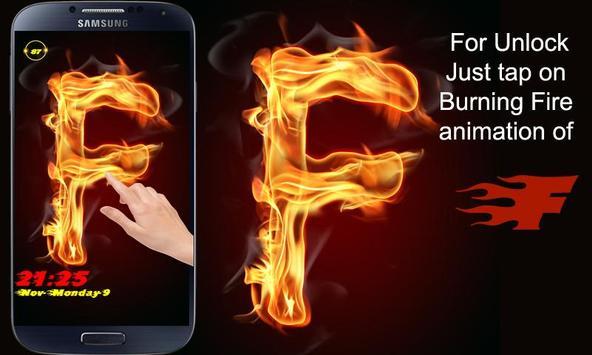 Burning Letter F Lock screenshot 3
